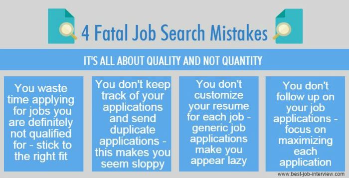4 Fatal Job Search Mistakes