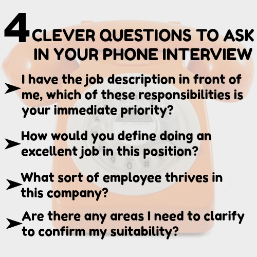 4 phone interview questions to ask