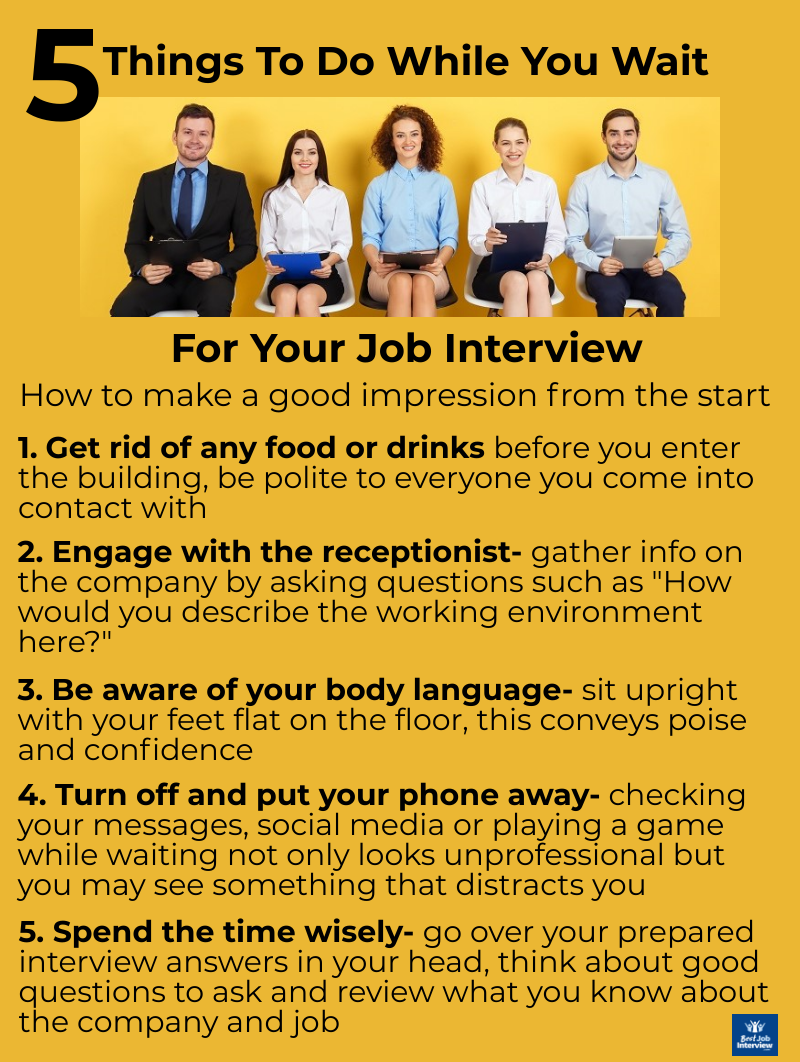 5 things to do while waiting for your job interview