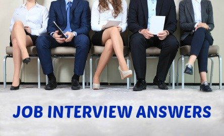 Candidates sitting waiting for job interview with writing