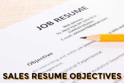 Sample Sales Resume Objective