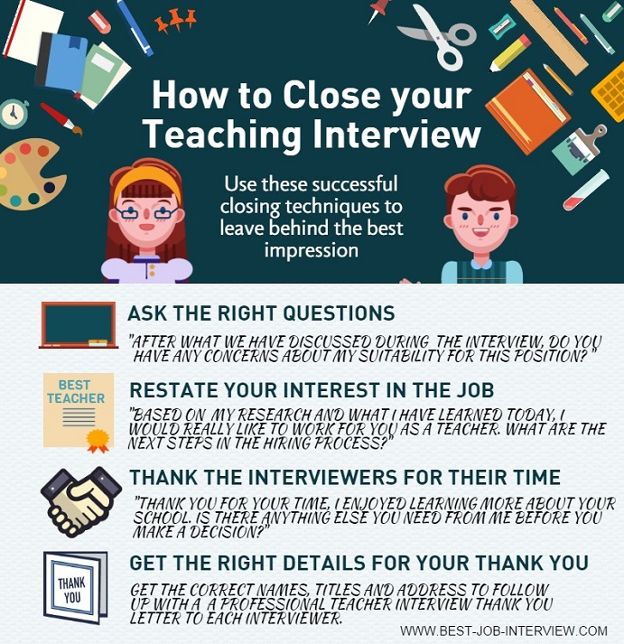 How to close the teaching interview