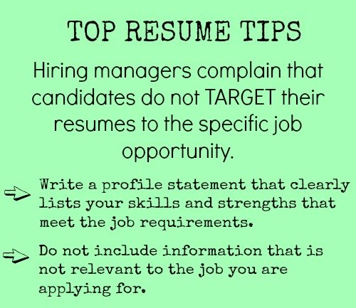 Target Your Resume  Entry Level Jobs Resume