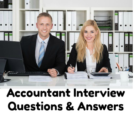 Male and female accountants sitting at desk with accounting documents