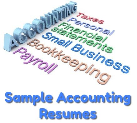 Accounting words in a graphic concept