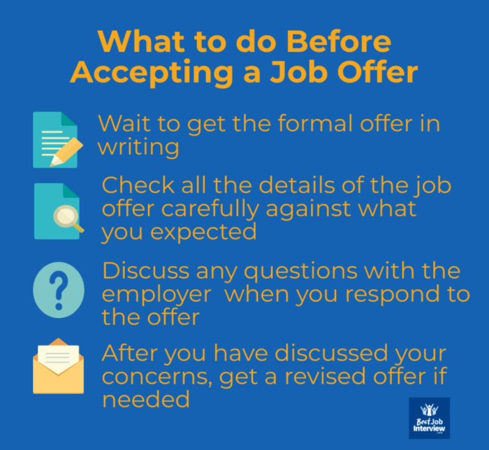 What to do before accepting a job offer