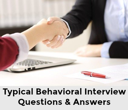 Interviewer shaking hands with job candidate and words