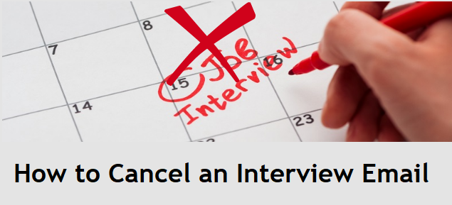 How to cancel an interview