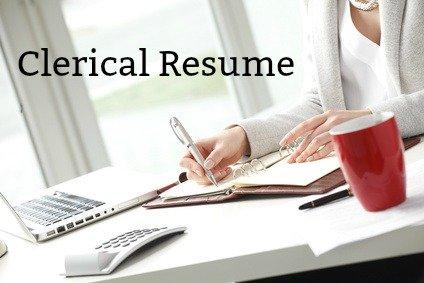 sample clerical resume
