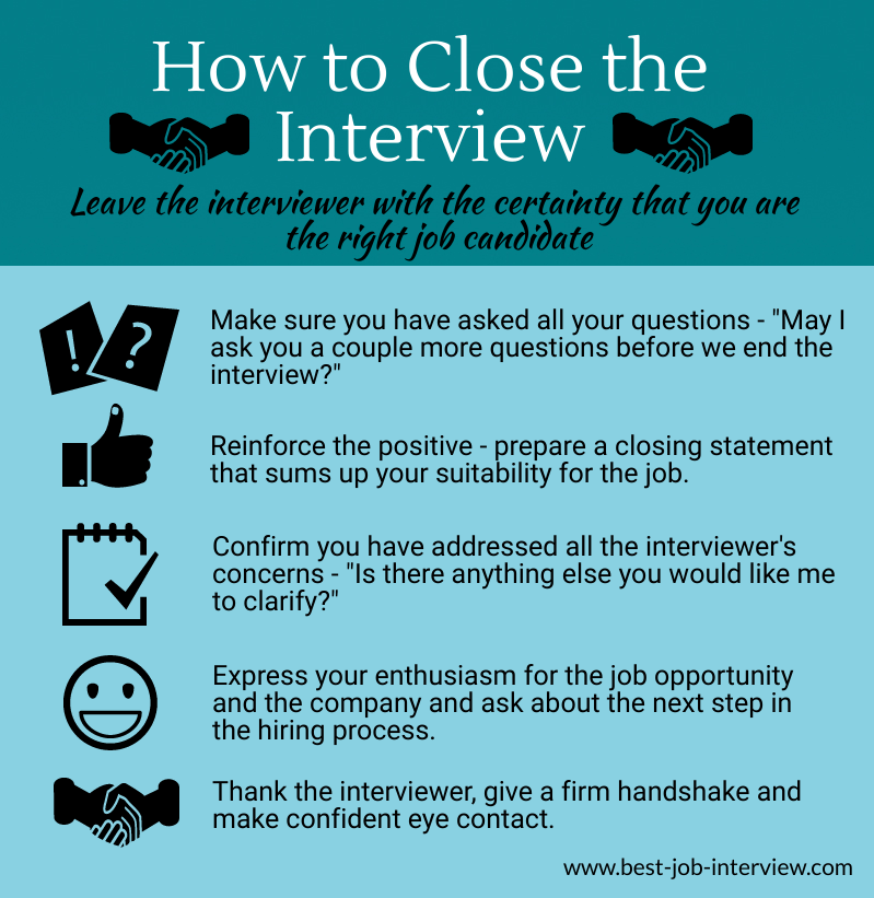 Closing the Interview Graphic