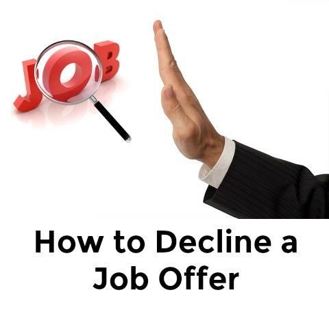 Sample Decline Job Offer Letter