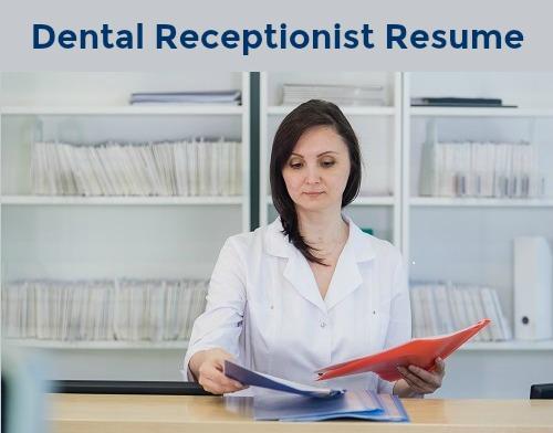 Sample dental receptionist resume