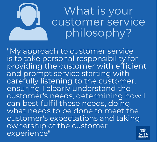 Customer service icon and text with heading
