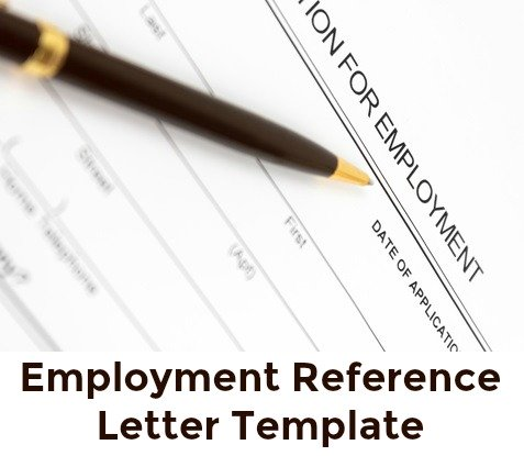 Template for writing an employment reference letter