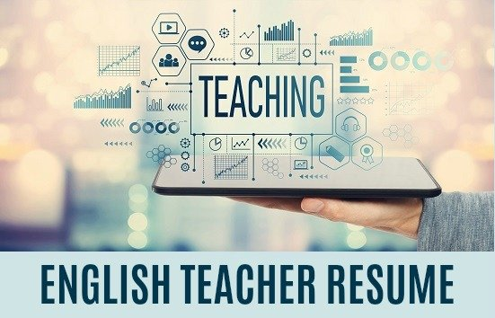 The word Teaching with person holding a tablet and teaching icons around it