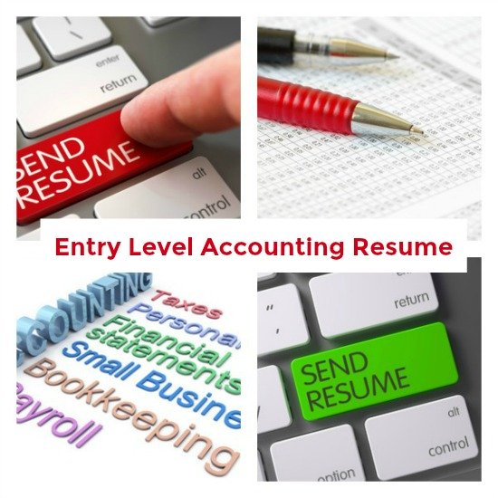Collage of accounting-related images with text