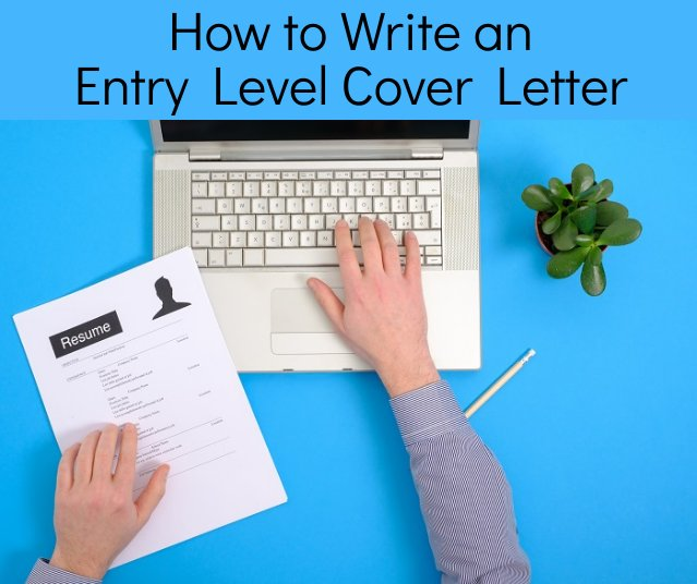 Entry level cover letter sample and tips