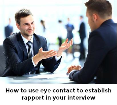 2 men making eye contact during a job interview