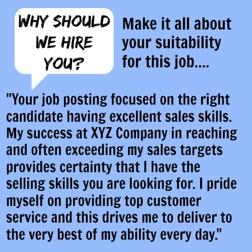 Why Should We Hire You sample interview answer text