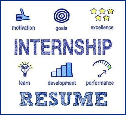sample intern resume