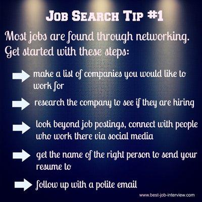 Job Search Tip #1