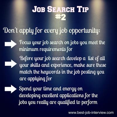 Job Search Tip #2