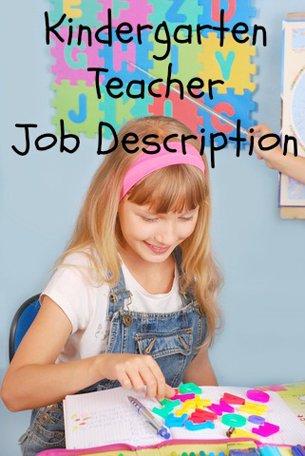 Kindergarten Teacher Job Description