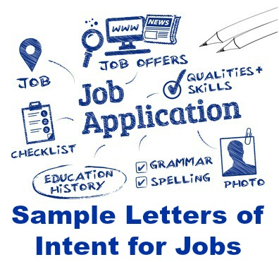Letter of intent for employment examples
