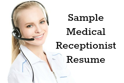 medical receptionist description
