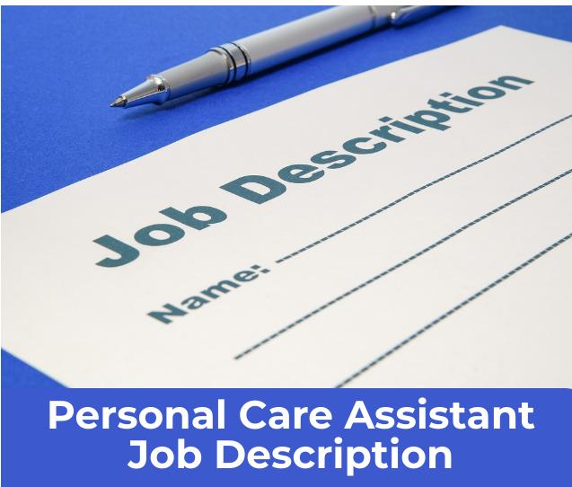 Job description document with pen
