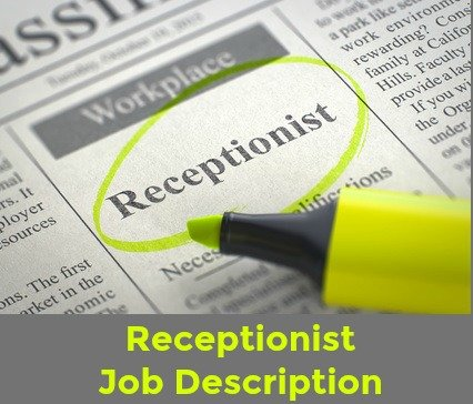 Job posting for receptionist in newspaper and highlighted in yellow