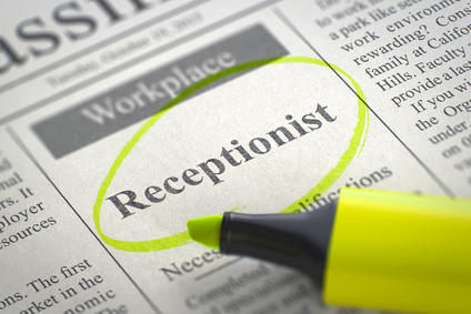 application for employment as a receptionist