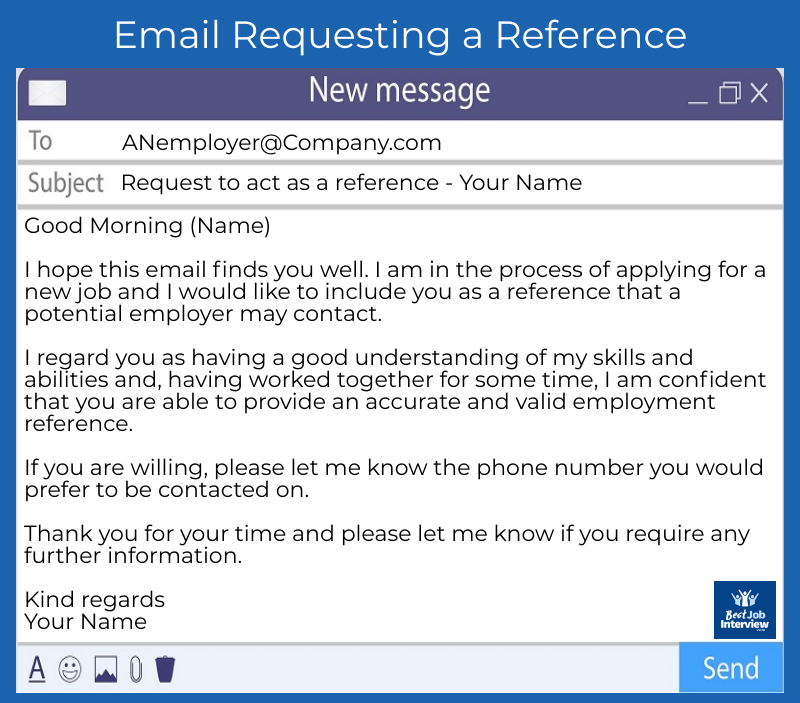 Request a Reference Email Example