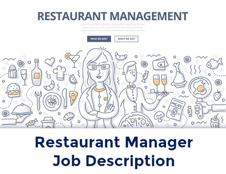 Restaurant management concept with icons related to restaurant management