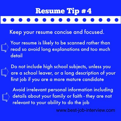 Resume Building Tips #4