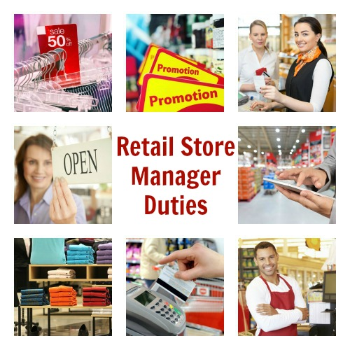 List of retail store manager duties