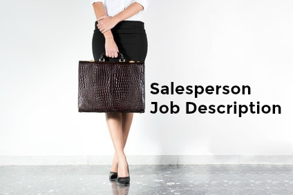 Sample Salesperson Job Description