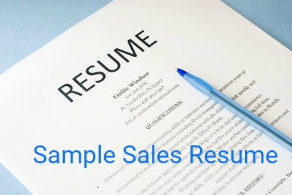 Sales Resume Sample  Objective For Sales Resume