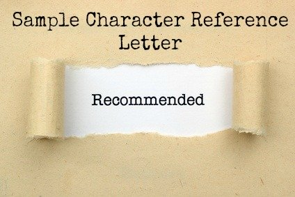 sample letter of recommendation character
