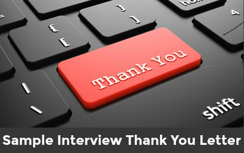 formal sample interview thank you letter