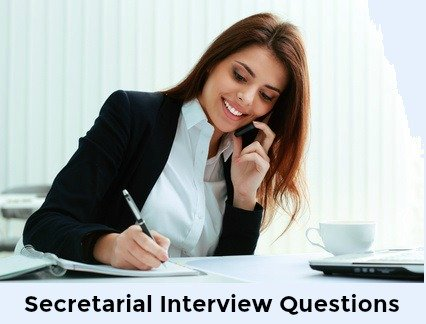 Female secretary at desk on phone with words