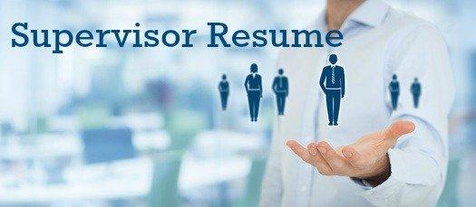 supervisor resume sample. Resume Example. Resume CV Cover Letter
