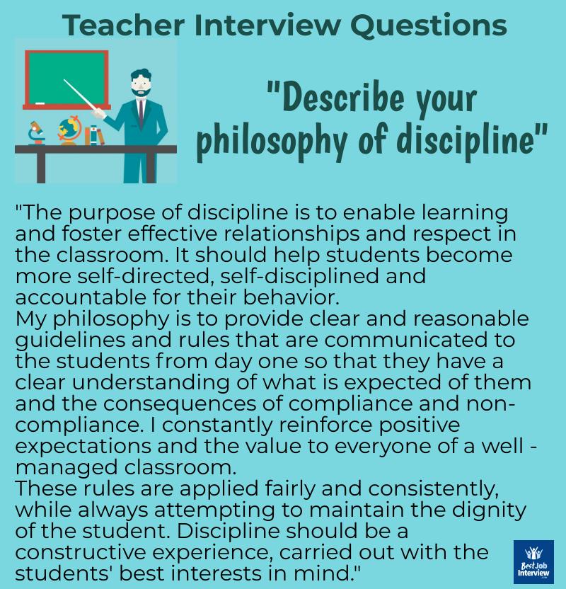 Teacher interview answer