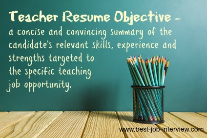 teaching resume objective samples - Objective For A Teacher Resume
