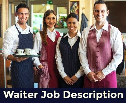 2 female and 2 male waiters at work