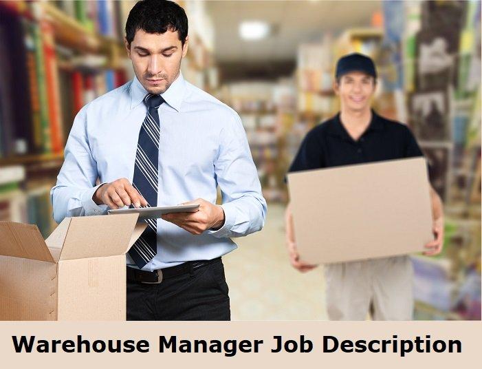 Sample warehouse manager job description