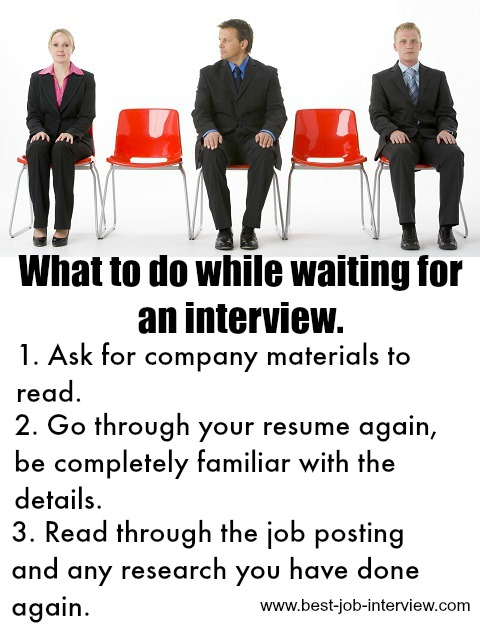 Waiting for a panel interview.