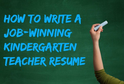 kindergarten teacher resume - Kindergarten Teacher Resume