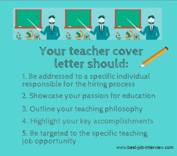 Teacher Cover Letters  Education Cover Letter Template